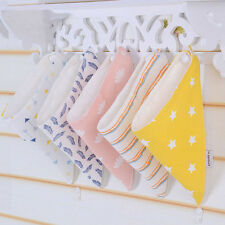 2pcs/set Baby Cotton Bandana Bibs Dribble Triangle Lunch Head Scarf Saliva Towel