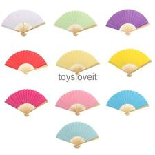 Portable Double Sided DIY Paper Lady Handheld Fan Outdoor Party Acce Home Decor