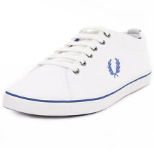 Fred Perry Hallam Twill Mens Fabric White Trainers