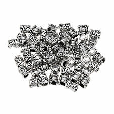 "Lowest price Tibetan Silver ""LOVE "" Letter Spacer Bead Big Hole 1/20/50/100pcs"