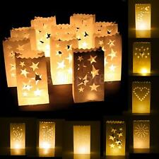 10x PAPER LANTERN BAG TEA LIGHT CANDLE HOLDER DECORATION WEDDING PARTY FAVOURS