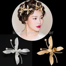 BRIDAL WEDDING PEARL HAIR COMB CLIP SLIDE BARRETTE HAIRPIN CLAMP JEWELRY