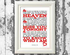 Goo Goo Dolls IRIS Song Lyric Poster Lyrics Wall Art Typography Prints