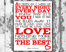Madness It Must Be Love Lyric Canvas Box Frame Song Lyrics Wall Art Typography