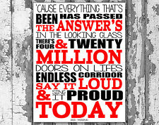 Oasis Masterplan Music Lyrics Canvas Song Lyric Art Prints Typography Wall Art