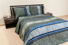 Dotty Blue 100% Cotton Duvet Cover Bedding Set OR Comforter Set