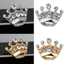 Simple 12pcs Lot Crystal Diamante Tiara Crown Brooch Pin Garment Accessories