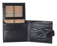 Visconti MZ2 Mens ID Card Holder Bifold Leather Wallet Passcase Snap Close Gift