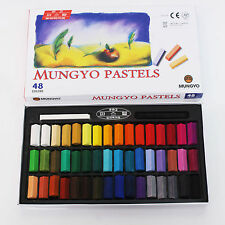Mungyo Soft Pastels 24 32 48 64 Colors Set Half Length Square Vivid Crayon