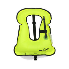 Adult Inflatable Snorkeling Jacket Swimming Safety Buoyancy Vest for Men / Women