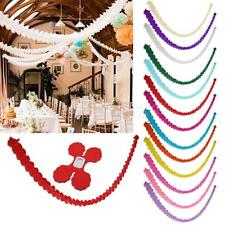 3m WHITE WEDDING PAPER BUNTING GARLAND PARTY HOME BIRTHDAY DECORATION GIFT