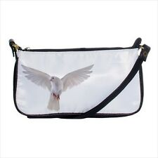 White Dove Mini Coin Purse & Shoulder Clutch Handbag