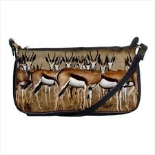 African Gazelles Mini Coin Purse & Shoulder Clutch Handbag