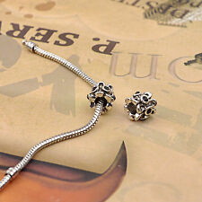 DIY jewelry European Crystal Rhinestone Spacer Alloy Beads For Bracelet & Dangle