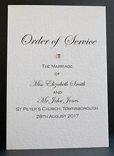 10 Handmade Personalised Wedding Order of Service Booklet Free P&P