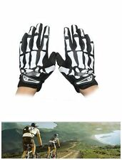 One Pair Cycling Motorcycle Racing Skeleton Skull Sports Warm Full Finger Gloves