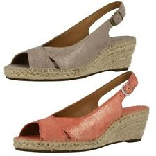 Ladies Clarks Suede Wedge Slingback Sandals The Style - Petrina Leigh