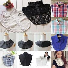 Women's Men Peter Pan Detachable Lapel Shirt Fake False Collar Choker Necklace