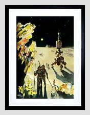 PAINTING SURREAL SCI FI ROCKET ALIEN PLANET SPACE STAR FRAMED ART PRINT B12X7509