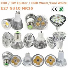 New  LED GU10 MR16 E27 15W/12W/9W/7W/5W/3W LED Bulb Lamp SMD/COB/CREE Spot Light