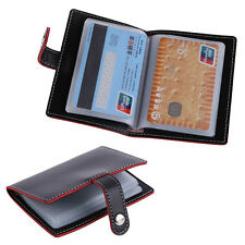 20 Slots ID Business Credit Card Holder Women Men Fabulous Faux Leather Case
