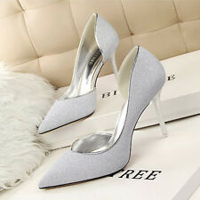Delicate Womens Shoes Pointed Toe Stilettos High Heels Cut Out Party Grace Pumps