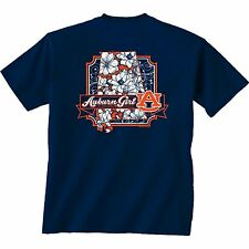 Auburn Tigers Unisex T-shirt - Blossom Flowers State - Color Navy Blue
