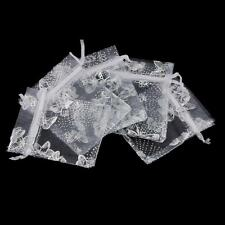 100pcs 7/9/11cm Organza Bag Wedding Favor Xmas Gift Candy Jewelry Pouch 3 Colors