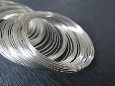 100pcs Steel Silver Bracelet Memory Wire Coils 55mm x 0.6mm for cuff bangle loop