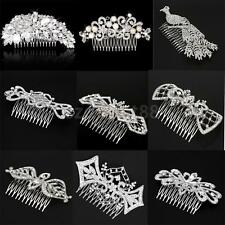 Crystal Rhinestone Pearl Flower Vintage Bridal Hair Comb Wedding Hair Jewelry
