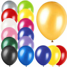 """100 X 10"""" INCH LATEX HELIUM OR AIR QUALITY BALLOONS FOR PARTY WEDDING BIRTHDAY"""