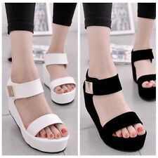 New pop Thick bottom shoes sponge wedge high-heels lady sandals fish mouth shoe