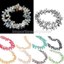 96Pcs of 6mm Rhinestone Droplets Spacer Loose Beads DIY Jewelry Findings Supply