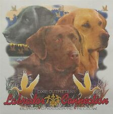 DIXIE OUTFITTERS LABRADOR CONNECTION  BLACK CHOCOLATE YELLOW DUCK SHIRT #6477