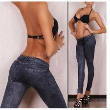 Hot Ladies Skinny Fit Stretchy Jeggings Jeans Womens Pencil Pants Solid Trousers