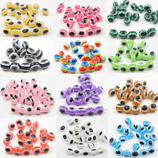 10x8mm 50/100pcs  Fashion Eye Oval Charm Beads Jewelery Bead Craft Acrylic