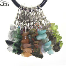 Natural Gemstone Chips Beads GP Dangle Hook Fashion Jewelry Earrings 1 Pair