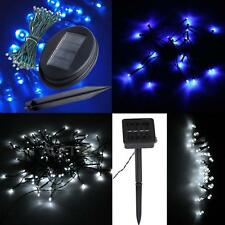 Blue/White LED Solar String Fairy Lights Lighting Christmas Xmas Outdoor Party