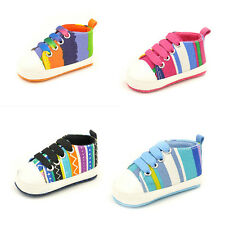 Infant Toddler Baby Boy Girl Soft Sole Crib Shoes Sneaker Newborn to 18 Months G