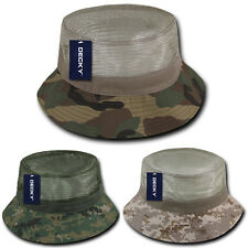 Camouflage Mesh Bucket Hat Boonie Fishing Cap