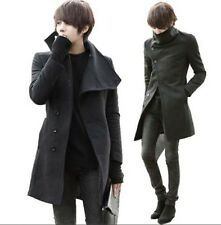 Korean Mens Fashion Autumn/Winter Slim Fit Trend Dust Jacket Windbreaker Coat Sz