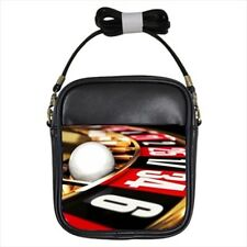 Roulette Gambling Casino Leather Sling (Crossbody Shoulder) & Women's Handbag