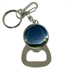 Rugby Goal Line Bottle Opener Keychain and Beer Drink Coaster Set