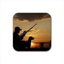 Duck Hunting Bird Hunting Bottle Opener Keychain and Beer Drink Coaster Set