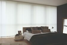 """Replacement Vertical Blind Slats Wipe Clean White 89mm (3.5"""") & 127mm (5"""") Slats"""