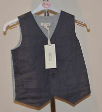 Fox & Finch Boys Waistcoat - GREY - SIZES - 5 & 6 Years - NEW
