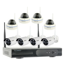 8CH Indoor Outdoor Home Wireless Security Camera System CCTV Kit with Hard Drive