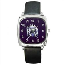 Sacramento Kings Round & Square Leather Strap Watch - Basketball NBA