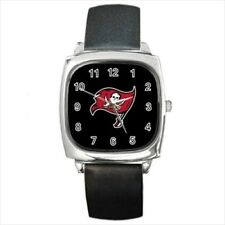 Tampa Bay Buccaneers Round & Square Leather Strap Watch - Football NFL