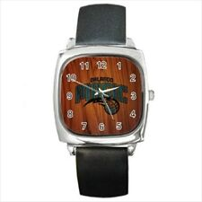 Orlando Magic Round & Square Leather Strap Watch - Basketball NBA